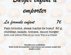Photo Formule burger enfant - Le Marsala